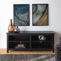 Transitional Black TV Stand Media Console (58 Inch)