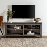 W58CSPCL Transitional Charcoal TV Stand Media Console (58 Inch)