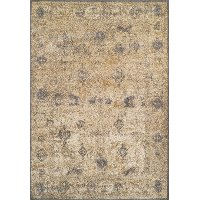 8 x 11 Large Ivory and Gray Area Rug - Antiquity