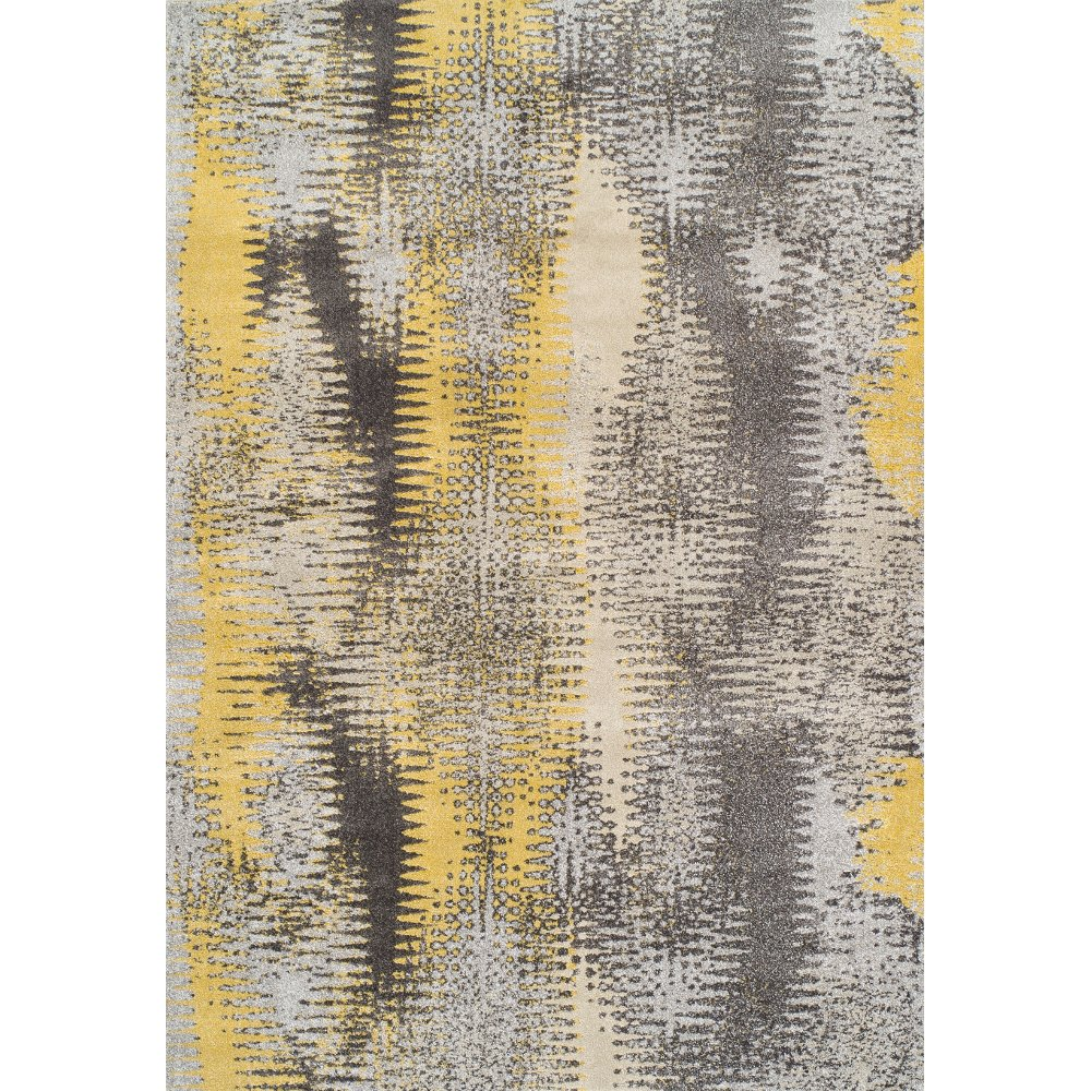 ... 10 X 13 X Large Yellow U0026 Gray Area Rug   Modern Grays ...