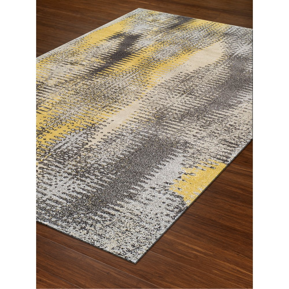10 X 13 Large Yellow And Gray Area Rug Modern Grays Rc Willey Furniture