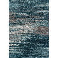 3 x 5 Small Teal and Gray Area Rug - Modern Grays