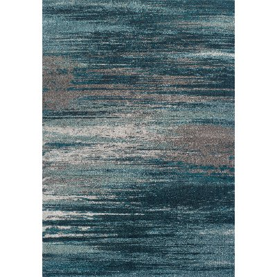 10 X 13 X Large Teal And Gray Area Rug   Modern Grays