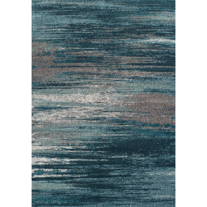 10 X 13 Large Teal And Gray Area Rug Modern Grays