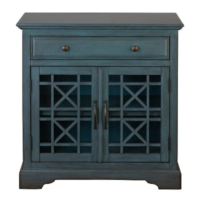 Antique Blue 2 Door and 1 Drawer Accent Cabinet | RC Willey ...