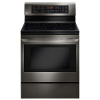 LRE3083BD LG 30 Inch 6.3 cu. ft. Electric Range - Black Stainless Steel