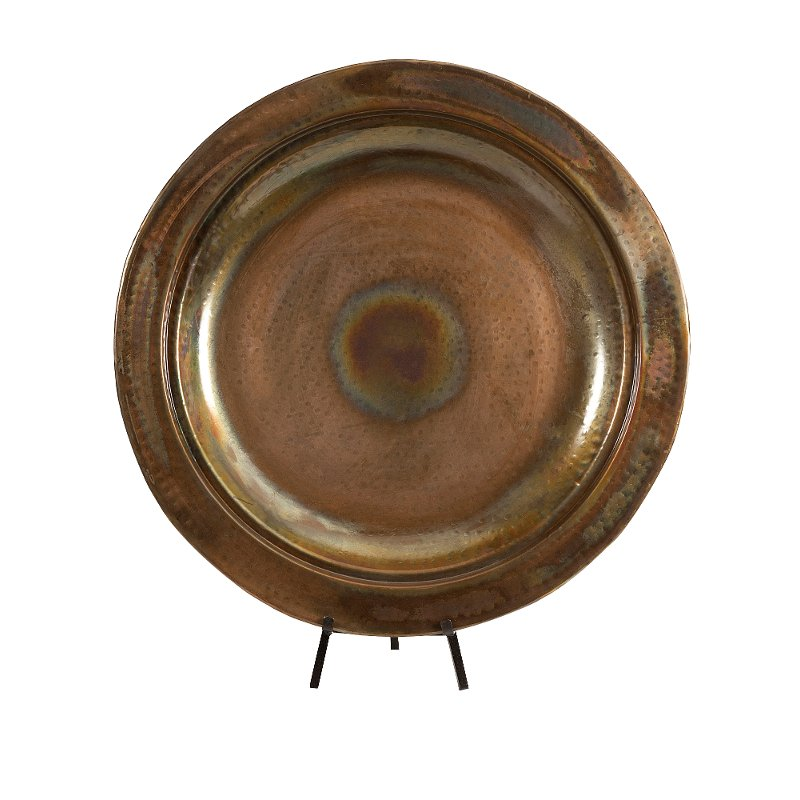 2 piece copper plated charger and iron stand rcwilley image1~800