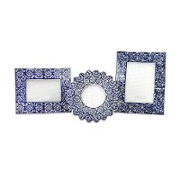 10 Inch Blue and White Ceramic Picture Frame