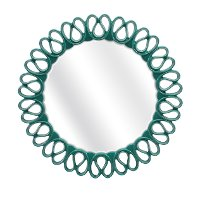 Teal Faux Leather Wall Mirror