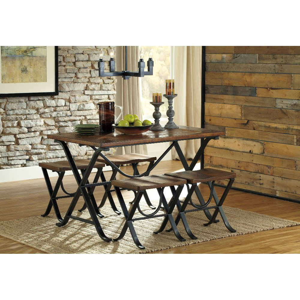 ... Clearance 5 Piece Dining Set   Freimore Barn Wood U0026 Metal