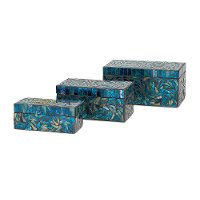6 Inch Peacock Mosaic Box