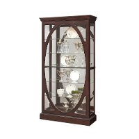 Sable Oval Front Curio Cabinet