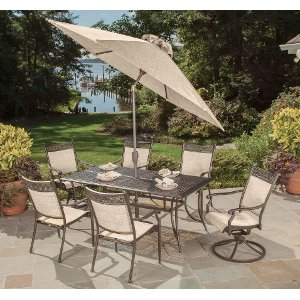 7 piece outdoor patio dining set