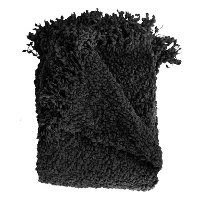 Black Boucle Throw