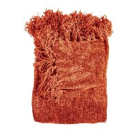 Pomegranate Orange Chenille Throw