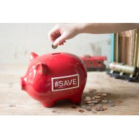 Red Ceramic Piggy Bank