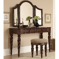 Arbor Place Brown Traditional 3 Piece Vanity Set