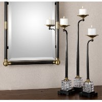 24 Inch Dark Oil Rubbed Bronze Candle Holder