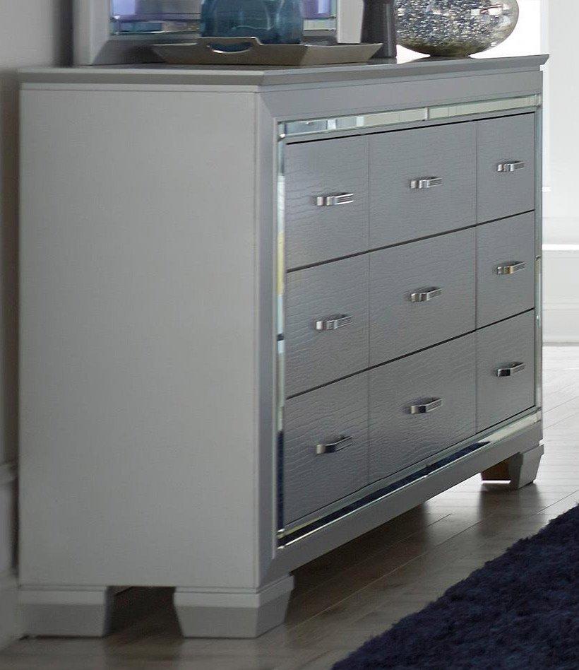 Jcwiley: Gray 6 Piece King Bedroom Set - Allura