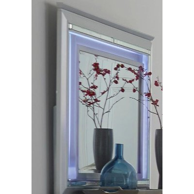 Allura Gray Mirror with LED Lighting