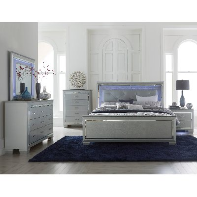 Contemporary Gray 6 Piece Queen Bedroom Set - Allura | RC Willey ...