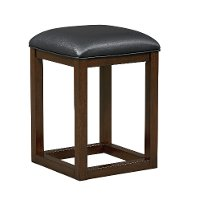 Porter Dark Brown Backless 24 Inch Bar Stool