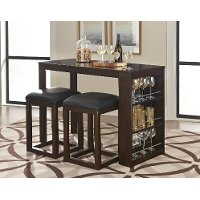 Counter Height Bar Set - 3-Piece Porter Dark Brown