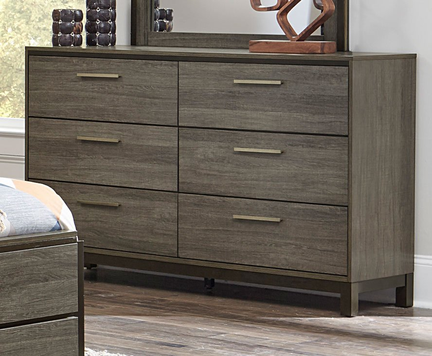 contemporary bedroom drawers gray amp black contemporary 6 bedroom set oxon 11198