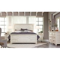 White Classic Cottage 6 Piece Queen Bedroom Set - Hancock Park