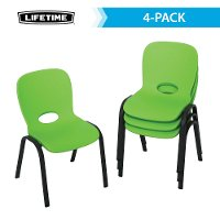 80473 Lifetime Lime Green Kids Chairs (Set of 4)