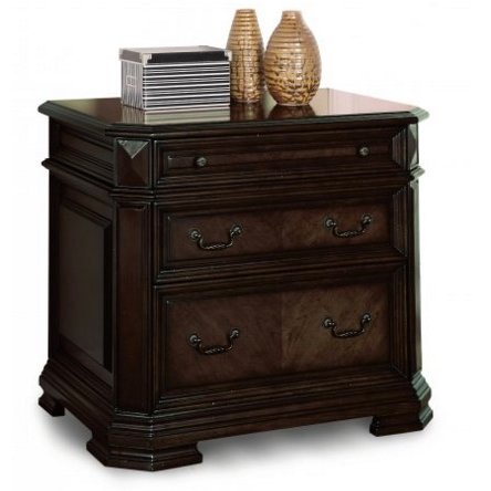 Antique Brown 2 Drawer Lateral File Cabinet - Eastchester