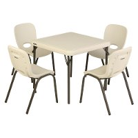 80437 Lifetime Kids Table and 4 Chairs Almond