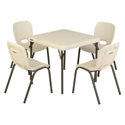 80437 Lifetime Kids Table and 4 Chairs Almond ...  sc 1 st  RC Willey & Lifetime Kids Table and 4 Chairs Green | RC Willey Furniture Store