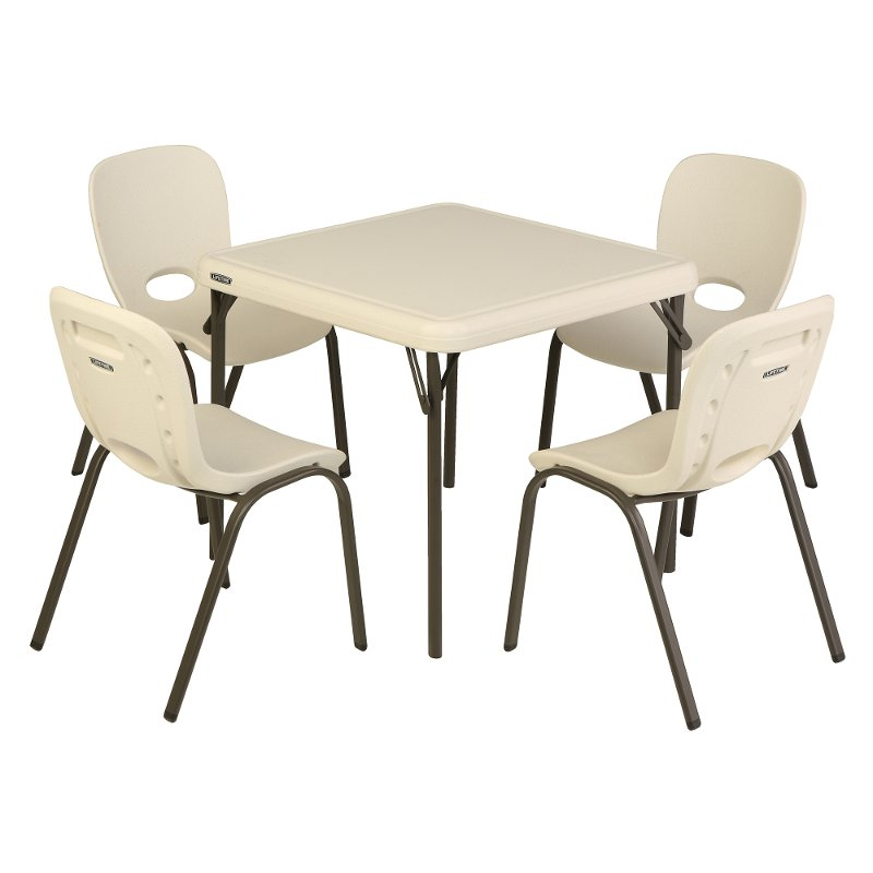 Lifetime Kids Table And 4 Chairs Almond