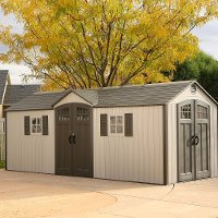 60127 Lifetime Tan 20' x 8' Side Entry Shed