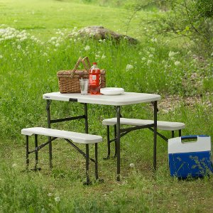 80373 Lifetime Almond Recreation Table Set Free Shipping