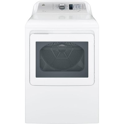 GTD65GBSJWS GE Gas Dryer with Extended Tumble - 7.4 cu. ft. White