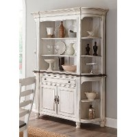 Two-Tone French Country Buffet and Hutch - Bourbon County