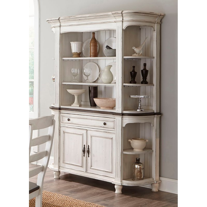 Two Tone French Country Buffet And Hutch Bourbon County Rc Willey Furniture