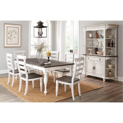 Two-Tone French Country 5 Piece Dining Set - Bourbon County ...
