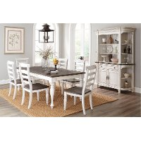 Two-Tone French Country 5 Piece Dining Set - Bourbon County