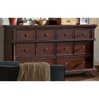 Bancroft Java Brown Traditional Dresser