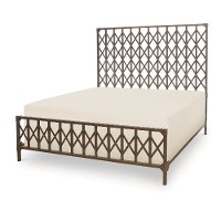 Metalworks Bronze Rustic Industrial Queen Metal Bed