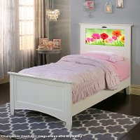 20250 Canterbury White LightHeaded Twin Bed