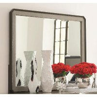 Symphony Platinum Gray Contemporary Mirror