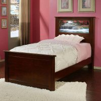 20204 Riviera Cheshire Cherry LightHeaded Twin Bed