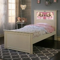 20324 Riviera White LightHeaded Twin Bed