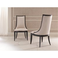 Ivory and Black Dining Room Chair - Symphony