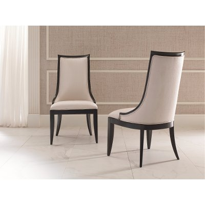 ... Ivory And Black Dining Room Chair   Symphony ...