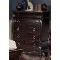 Black Cherry Traditional Chest of Drawers - Palisades